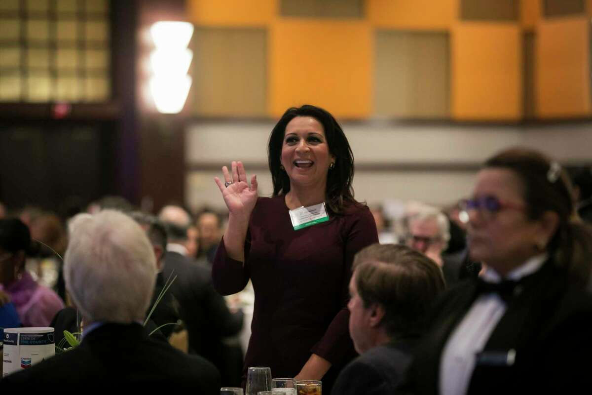 Texas House Representative Christina Morales is introduced during Harris County Judge Lina Hidalgo's annual State of the County address on Friday, Nov. 15, 2019, in downtown Houston.