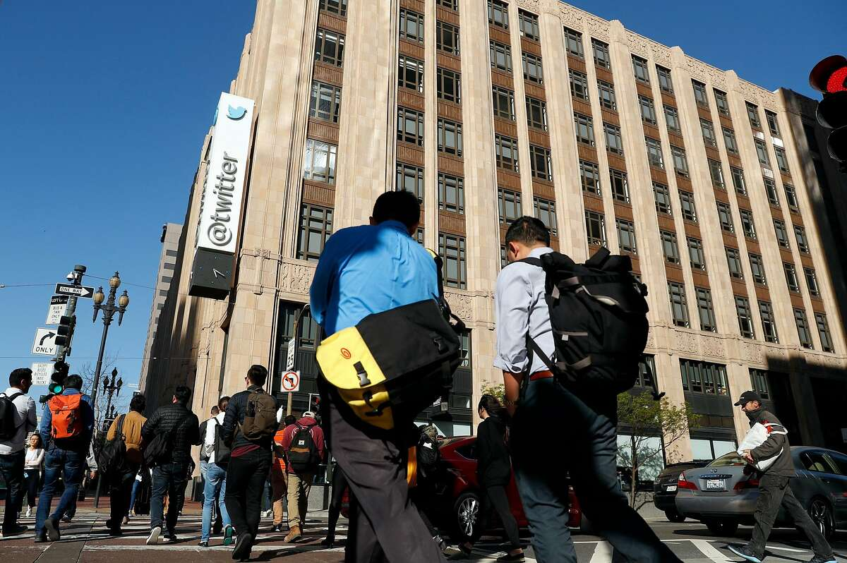 Twitter headquarters on Market Street in San Francisco, Calif., on Wednesday, May 1, 2019.