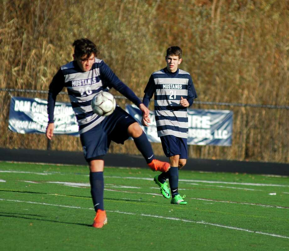 The Immaculate boys soccer team beat Old Lyme 2-0 in the Class S quarterfinals on Friday. Photo: Ryan Lacey/Hearst Connecticut Media
