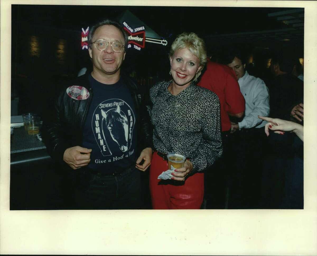Jim Pruett and Cathy White of KLOL radio in Houston, Texas. Stevens & Pruett.