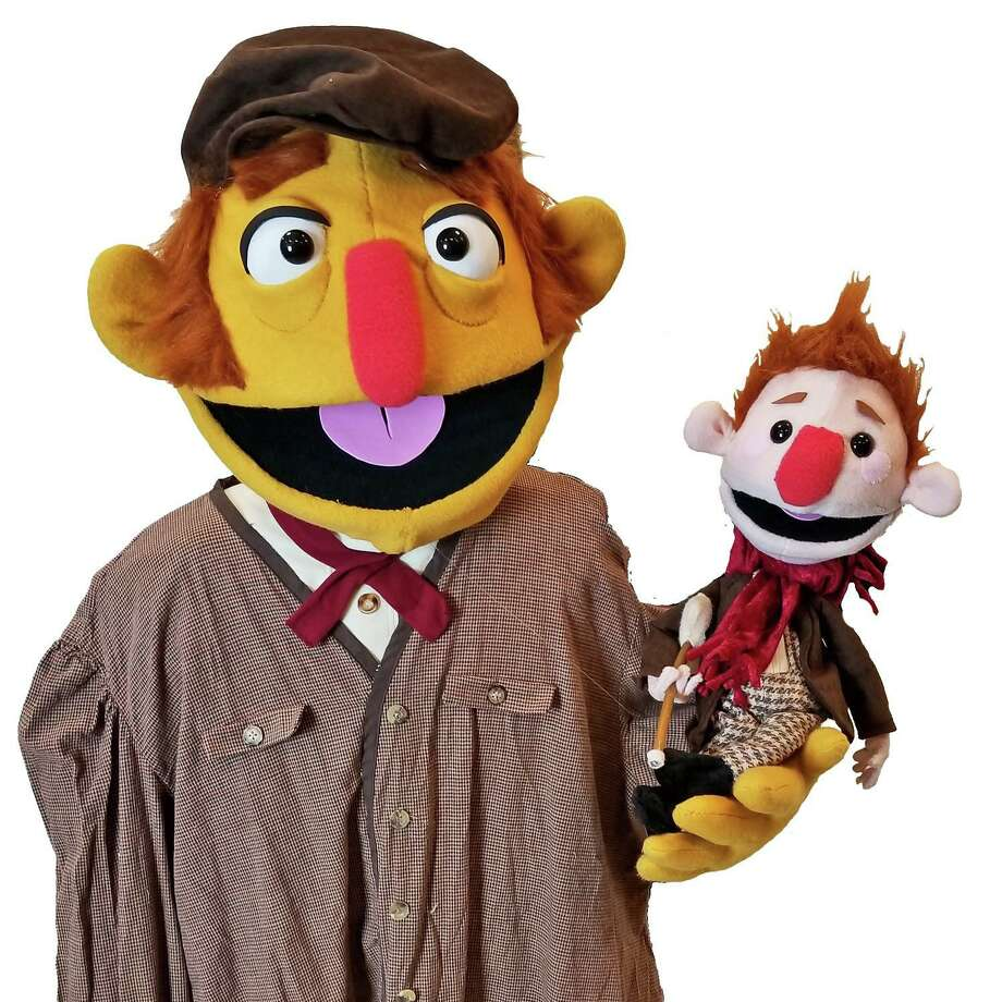"""Bob Cratchit and Tiny Tim, seen here, star in """"A Madcap Christmas Carol,"""" onstage at the Palace Danbury Sunday. Photo: Madcap Puppets / Contributed Photo"""