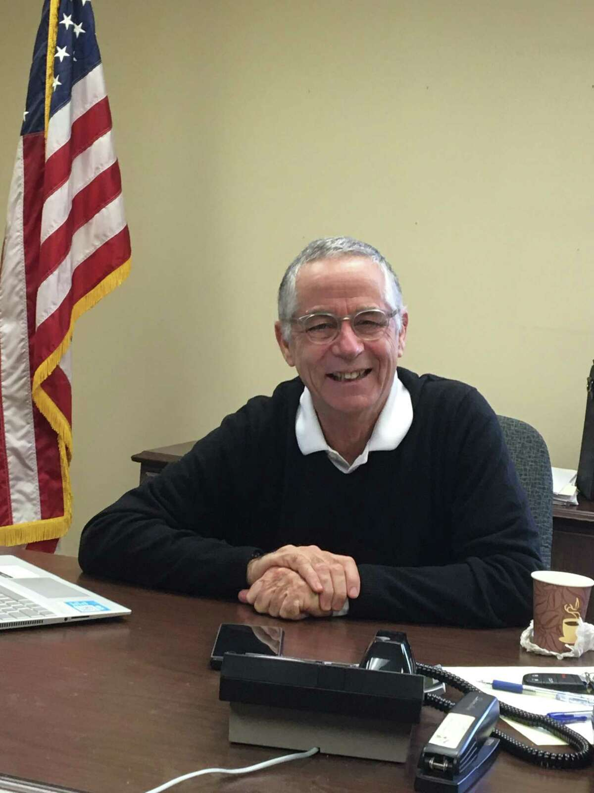 Outgoing East Haven Mayor Joe Maturo reflecting on his 18 years in office in his Town Hall office on Wednesday, Nov. 13, 2019.