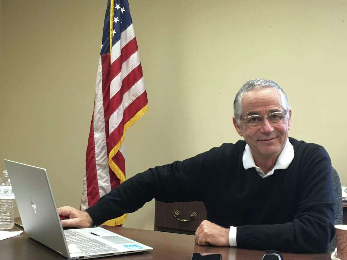 Outgoing East Haven Mayor Joe Maturo reflecting on his 18 years in office in his Town Hall office Wednesday, Nov. 13, 2019.