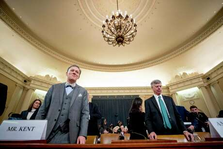 Foreign Service officer George Kent, left, and U.S. diplomat William Taylor appear before the House Intelligence Committee. Democrats need to shock the nation's conscience to justify impeachment of President Donald Trump; current facts don't do that.
