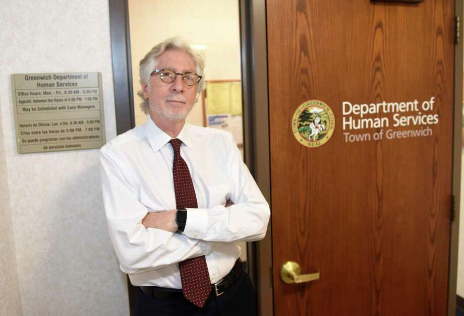 Greenwich Department of Human Services Director Alan Barry, Ph.D., poses in the department headquarters at Town Hall in Greenwich, Conn. Wednesday, Oct. 2, 2019. He is planning to retire soon. Photo: File / Tyler Sizemore / Hearst Connecticut Media / Greenwich Time