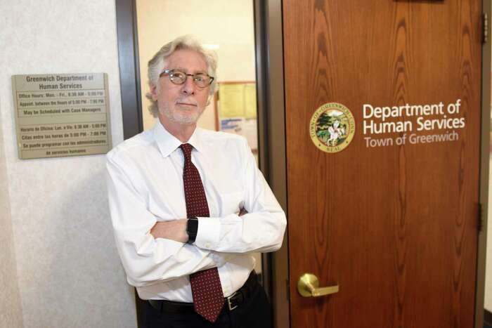 Greenwich Department of Human Services Director Alan Barry, Ph.D., poses in the department headquarters at Town Hall in Greenwich, Conn. Wednesday, Oct. 2, 2019.
