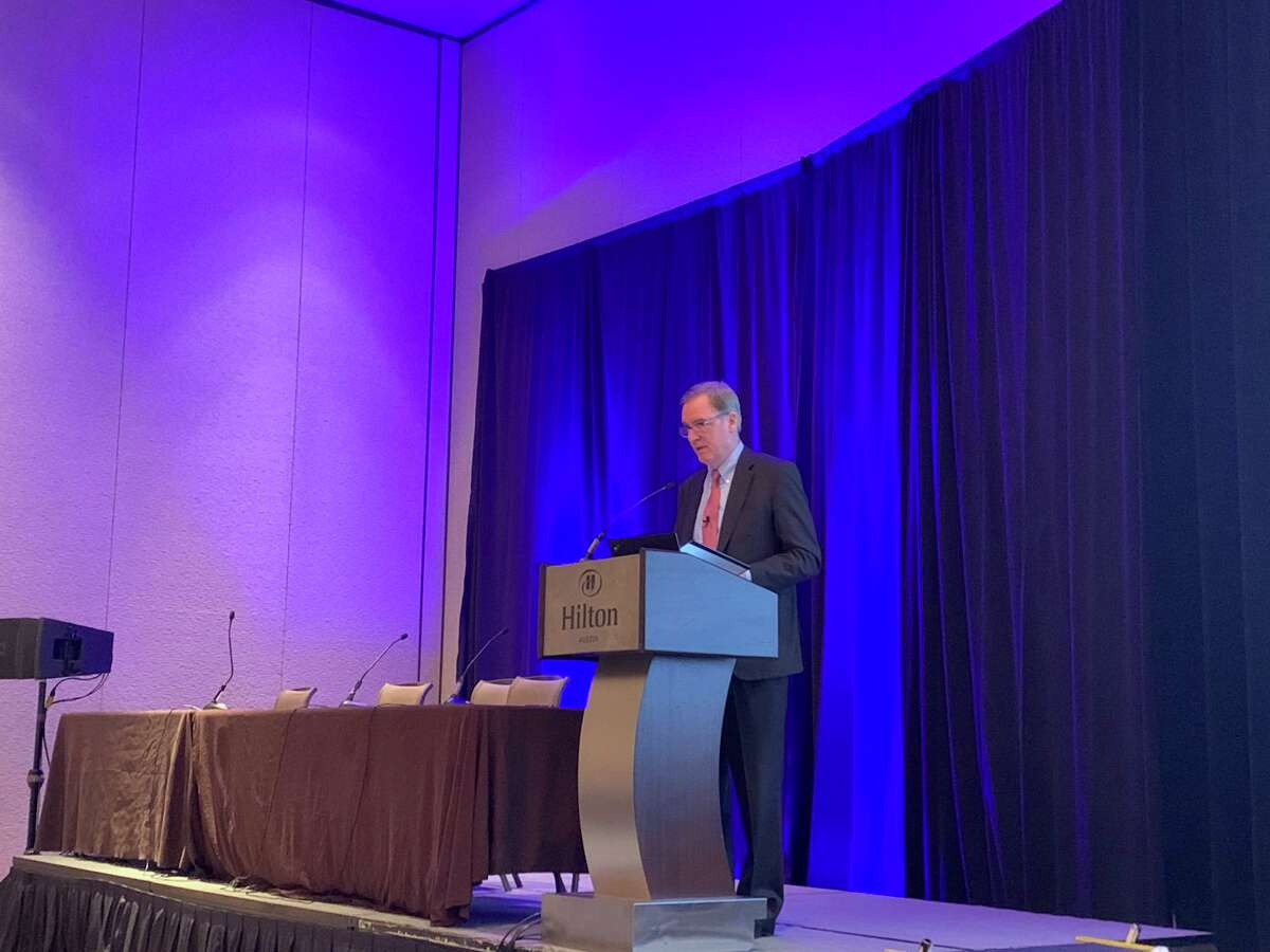 Commissioner Kent Sullivan of the Texas Department of Insurance spoke to insurers and brokers at the Texas Association of Health Plans annual conference Wednesday. Sullivan urged health plans to use plain language and to increase health care price transparency to benefit consumers.