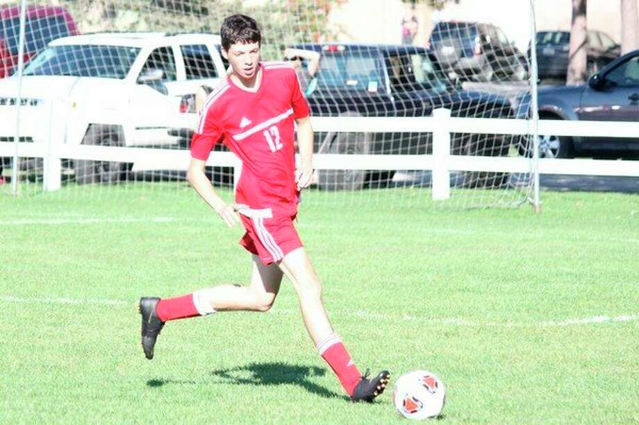 Ty Bigelow made the all-district team as a defender this fall. (File photo)