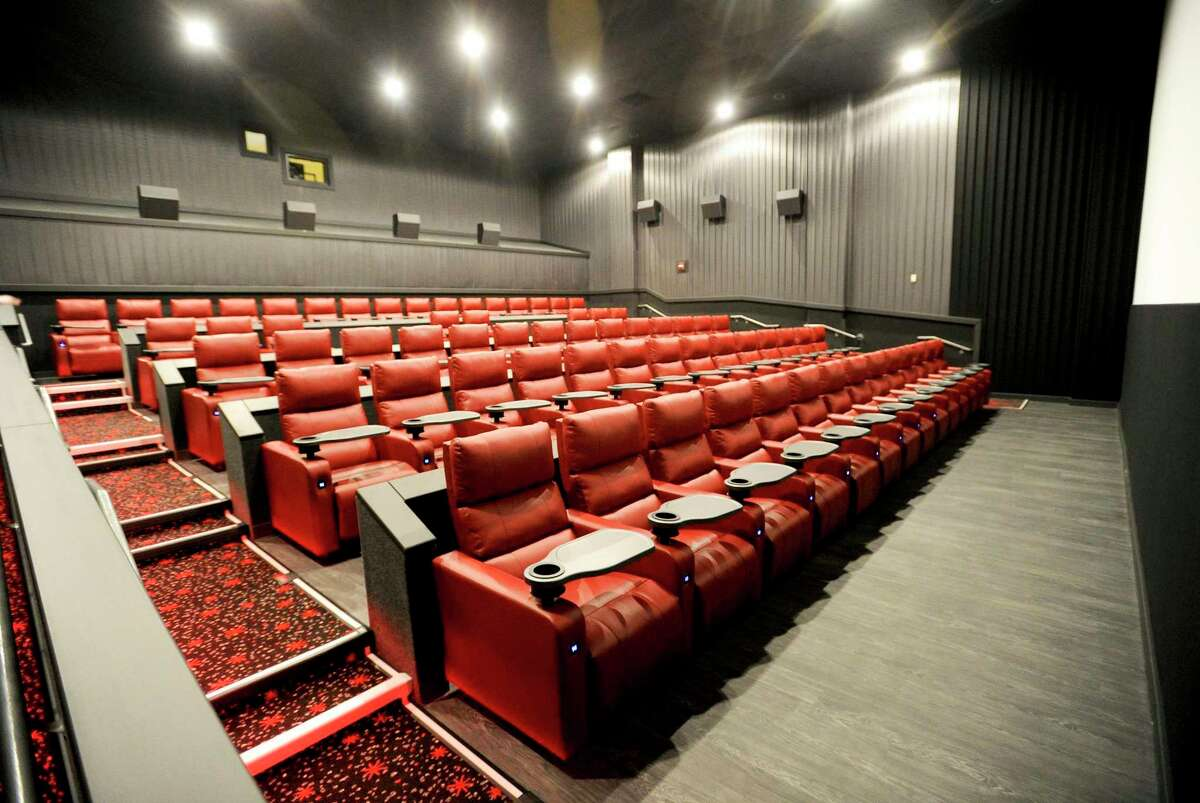 A screening room in Bow Tie Cinemas' Majestic 6 theater at 118 Summer St., in downtown Stamford, Conn. The company temporarily closed its theaters in Connecticut again on July 1, 2020 as it awaits the return of new Hollywood releases.