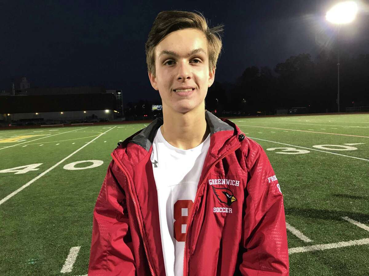 Greenwich senior Josh Frumin scored twice in the Cardinals 2-1 win vs. Hamden in the quarterfinal-round of the Class LL Tournament.