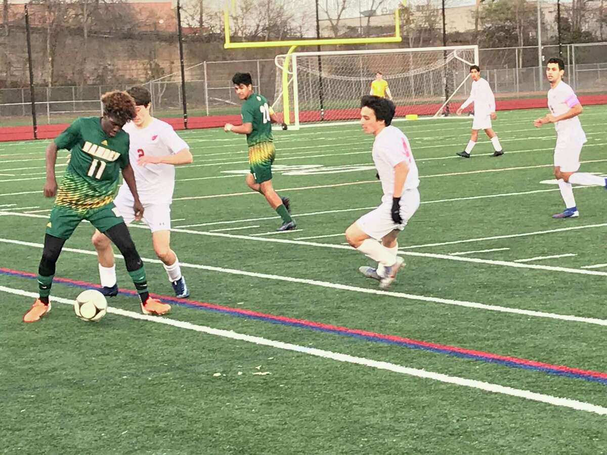 Greenwich defeated Hamden in the quarterfinal-round of the Class LL boys soccer tournament on Friday, November, 15, 2019.