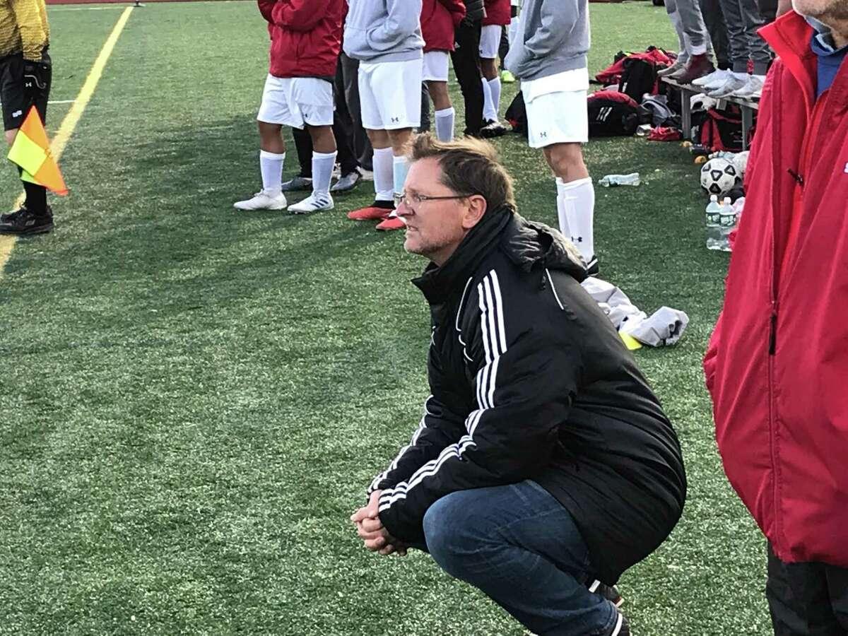 Greenwich boys soccer coach Kurt Putnam has guided the Cardinals to the Class LL Tournament semifinals.