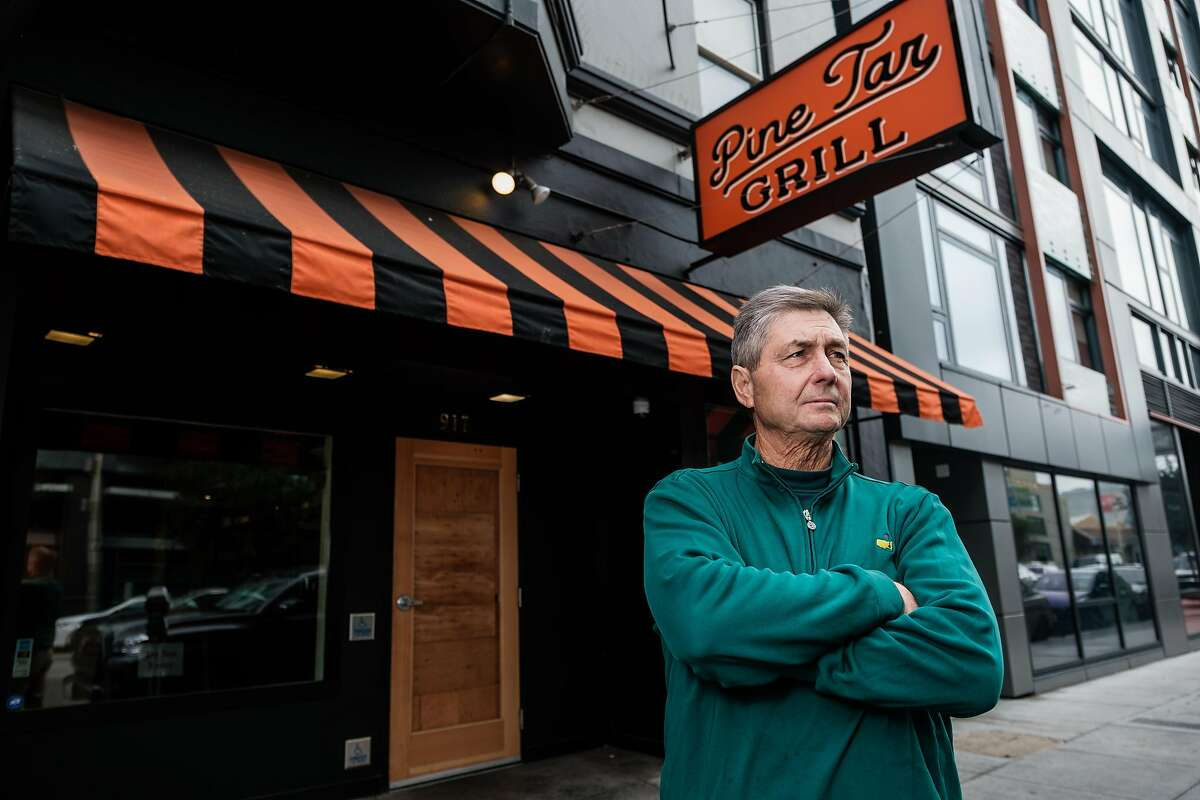 Dave Martin, the owner of the Pine Tar Grill poses for photograph outside of his now empty Restaurant in San Francisco, Calif. on Friday November 15, 2019.