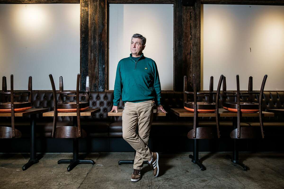 Dave Martin, the owner of the Pine Tar Grill poses for photograph in his now empty Restaurant in San Francisco, Calif. on Friday November 15, 2019.