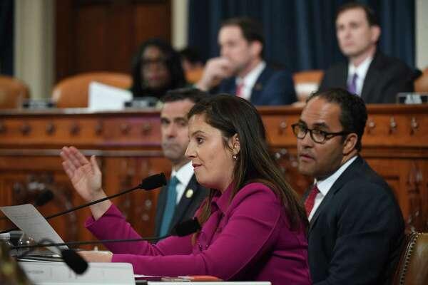 Rep. Elise Stefanik, R-N.Y., speaks as former ambassador to Ukraine, Marie Yovanovitch appears before the House Intelligence Committee on Friday.