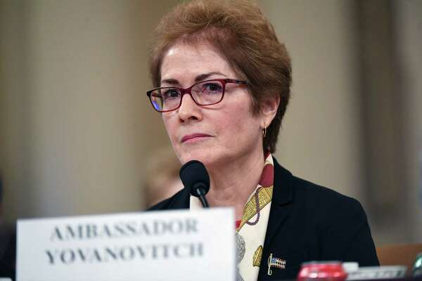 Former Ambassador to Ukraine, Marie Yovanovitch appears before the House Intelligence Committee during an impeachment hearing on Nov. 15, 2019, in Washington, D.C.