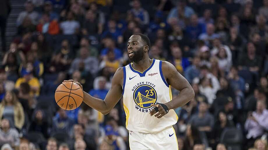 Golden State Warriors forward Draymond Green dribbles against the Utah Jazzin the first half of an NBA basketball game in San Francisco, Monday, Nov. 11, 2019. The Jazz won 122-108. (AP Photo/John Hefti) Photo: John Hefti / Associated Press