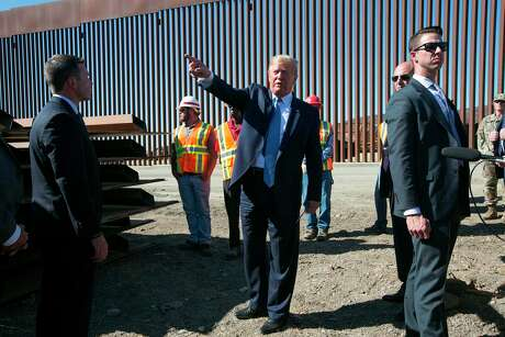 President Donald Trump visits the U.S.-Mexico border, east of the Otay Mesa Port of Entry in San Diego on September 18, 2019.