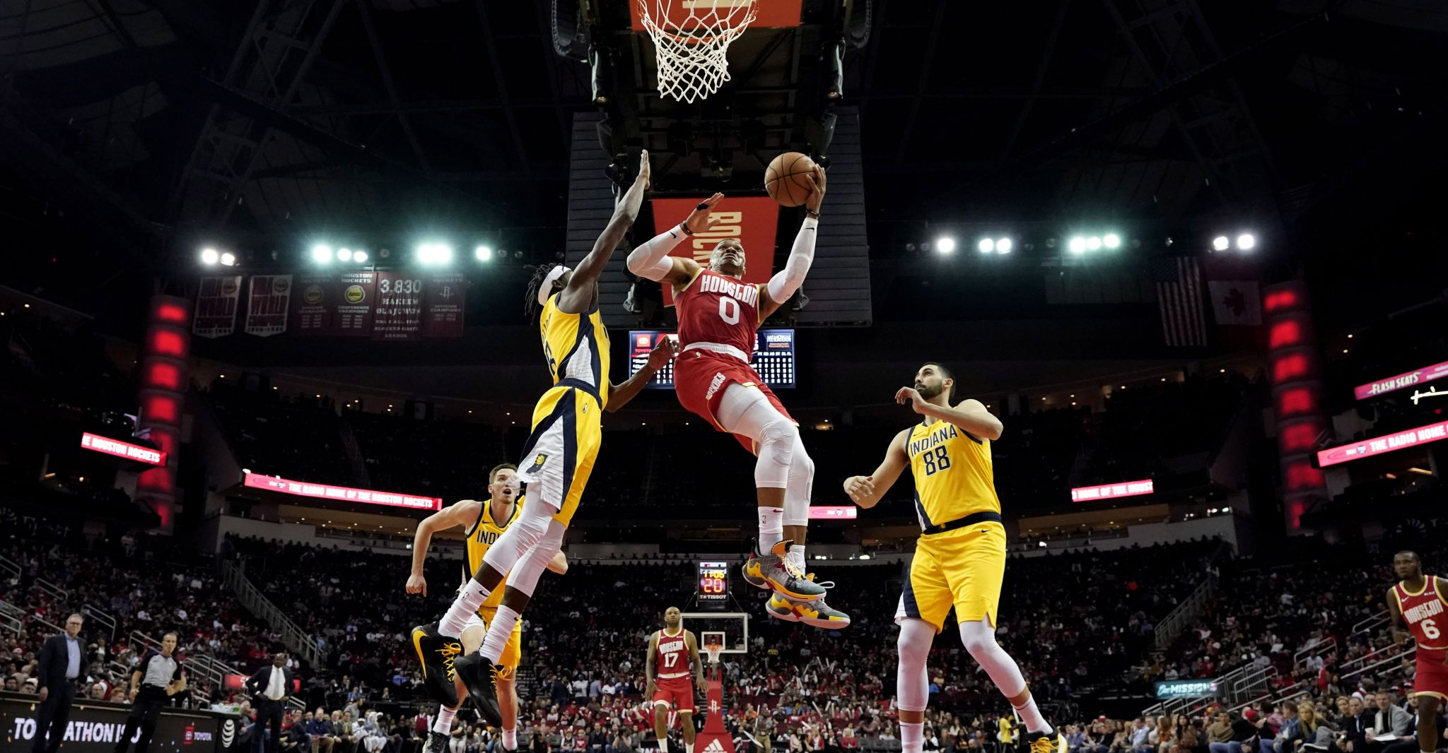 Rockets knock down Pacers, extend streak to 6 games