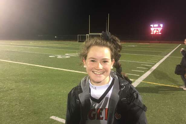Senior forward Cait Irving scored the only goal as the Ridgefield field hockey team defeated Greenwich in the Class L quarterfinals.