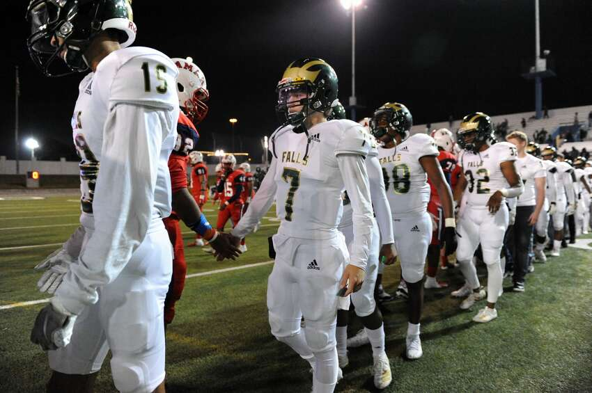 PHOTOS: Cy Falls 27, Lamar 14 Cy Falls Eagles shake hands with Lamar Texans after a Class 6A Division I Region III bi-district football playoff game on Friday, November 15, 2019 at Delmar Stadium, Houston, TX.