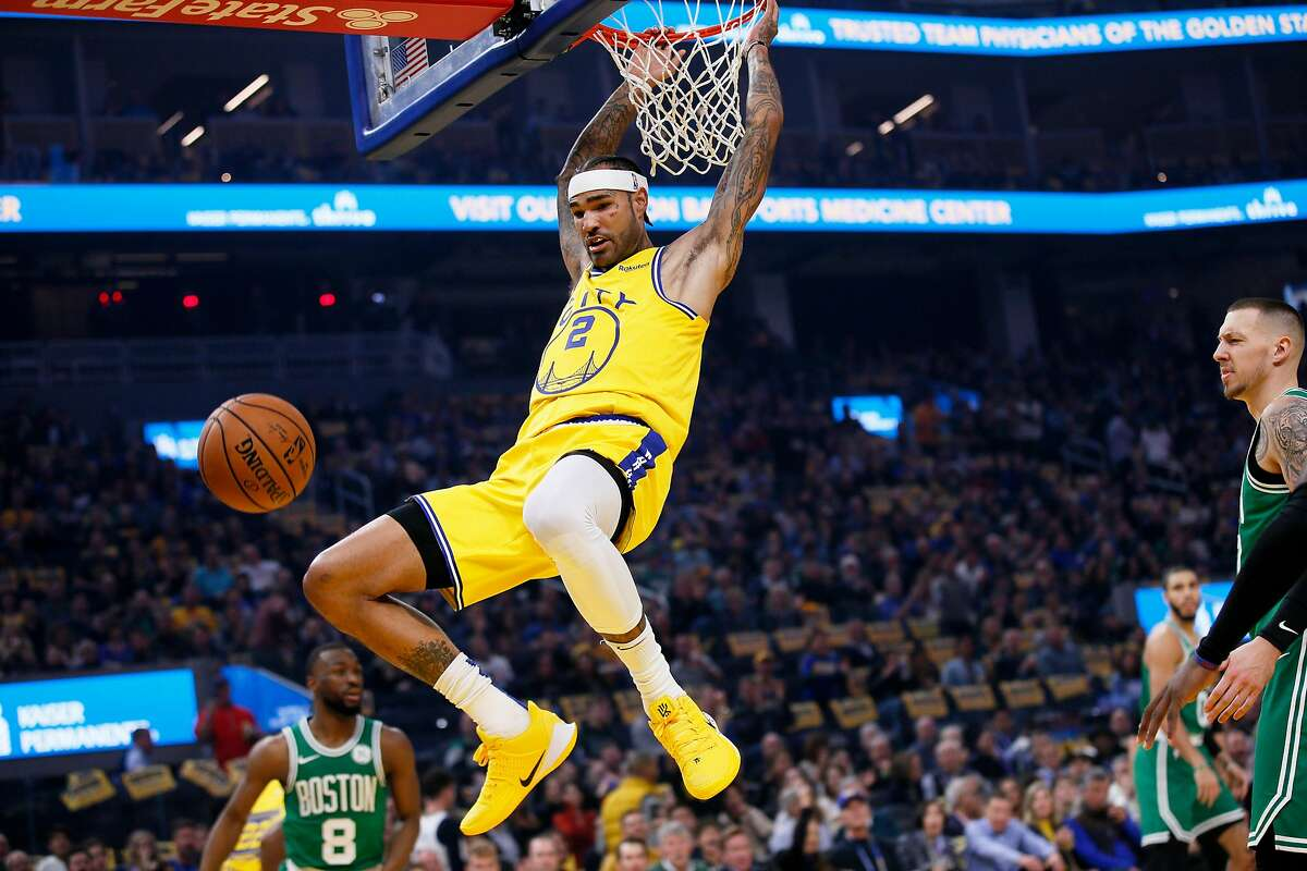 Golden State Warriors center Willie Cauley-Stein (2) in the first quarter of an NBA game against the Boston Celtics at Chase Center on Friday, Nov. 15, 2019, in San Francisco, Calif.