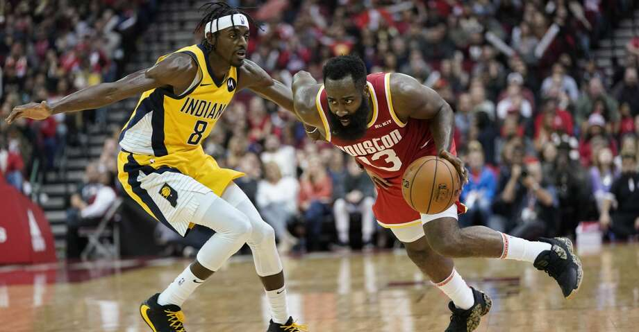 James Harden averaged 44.8 points on 45.8 percent shooting, 40 percent 3-point shooting with 5.8 rebounds, 6.8 assists and 2.3 steals per game as Rockets went 4-0 last week. Photo: David J. Phillip/Associated Press