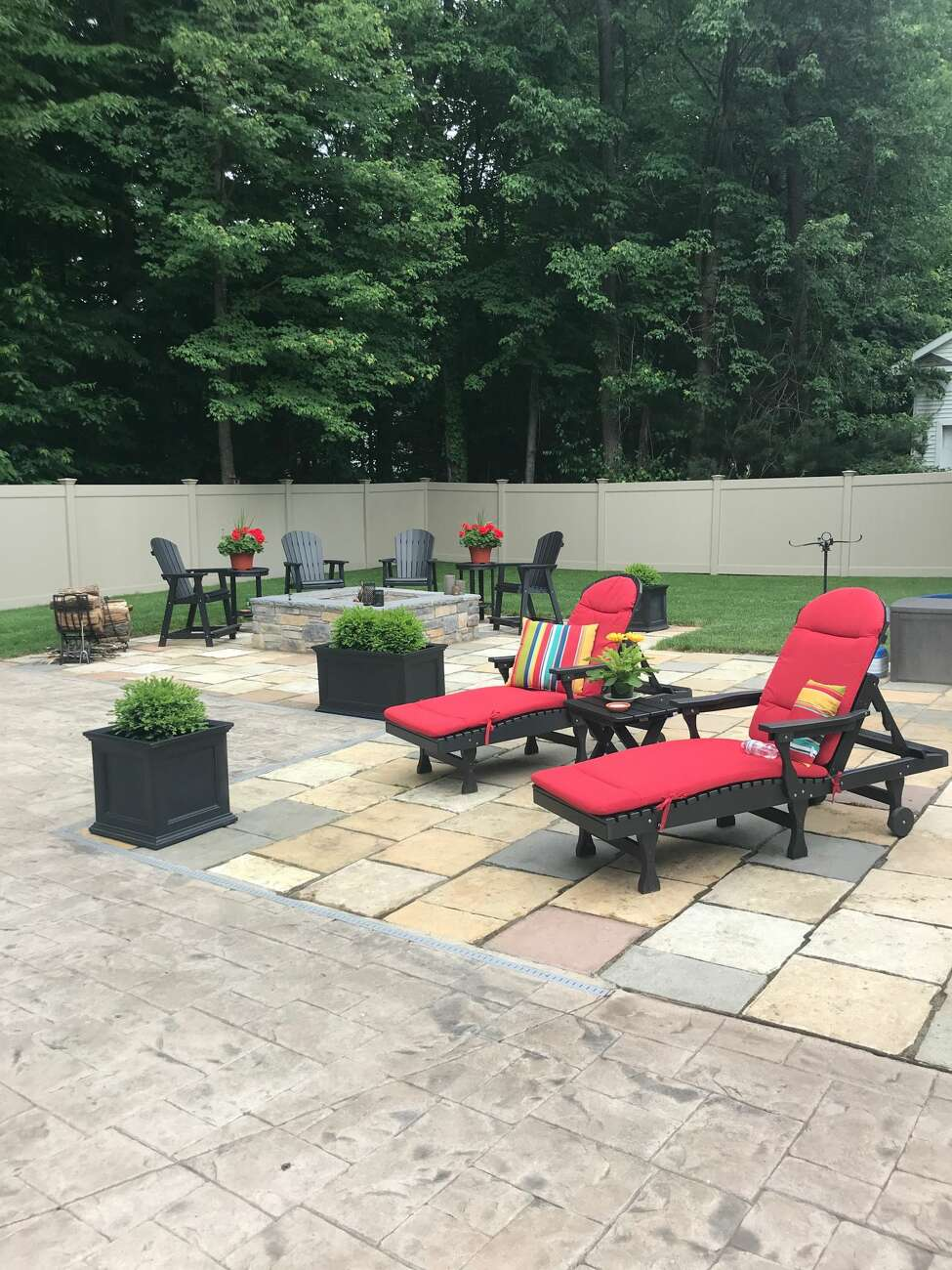 1. My favorite place is relaxing in my backyard with my wife, Kelly. Read more about Frank Gallo here.
