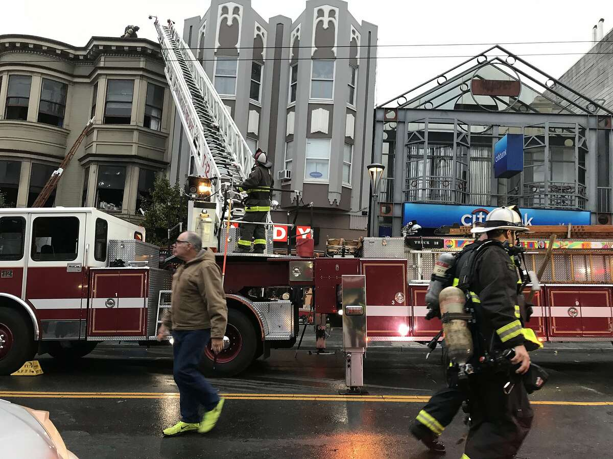 San Francisco firefighters are at the scene of a fire at 18th St. and Castro St. on Saturday, Nov. 16, 2019 in ,