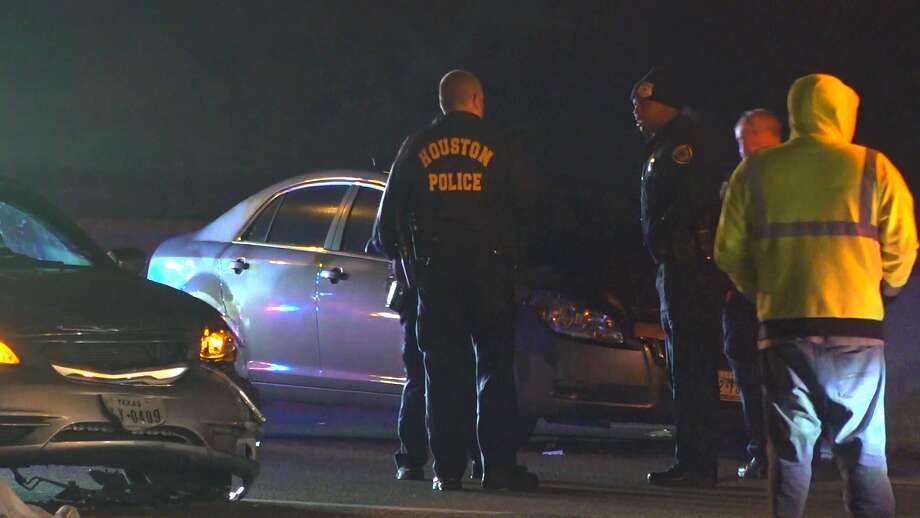 A woman was struck and killed after falling out of a car on North Freeway, according to Houston police. Photo: On Scene