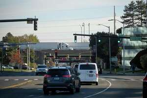 In a photograph taken on Nov. 15, 2019, the city's signal optimization effort, Elm Street motorists are now given longer green lights, as city engineers discovered that car buildup on the road was outnumbering Tresser, or Route 1, drivers in Stamford Connecticut.