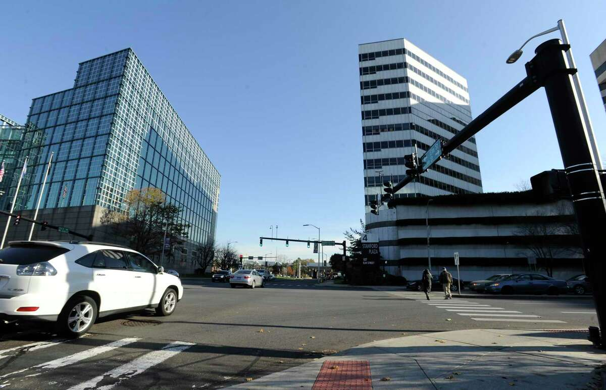 Job-search giant Indeed has leased approximately 24,000 square feet at 107 Elm St., at right, in downtown Stamford, Conn. The company's co-headquarters are located a few blocks away at 177 Broad St.