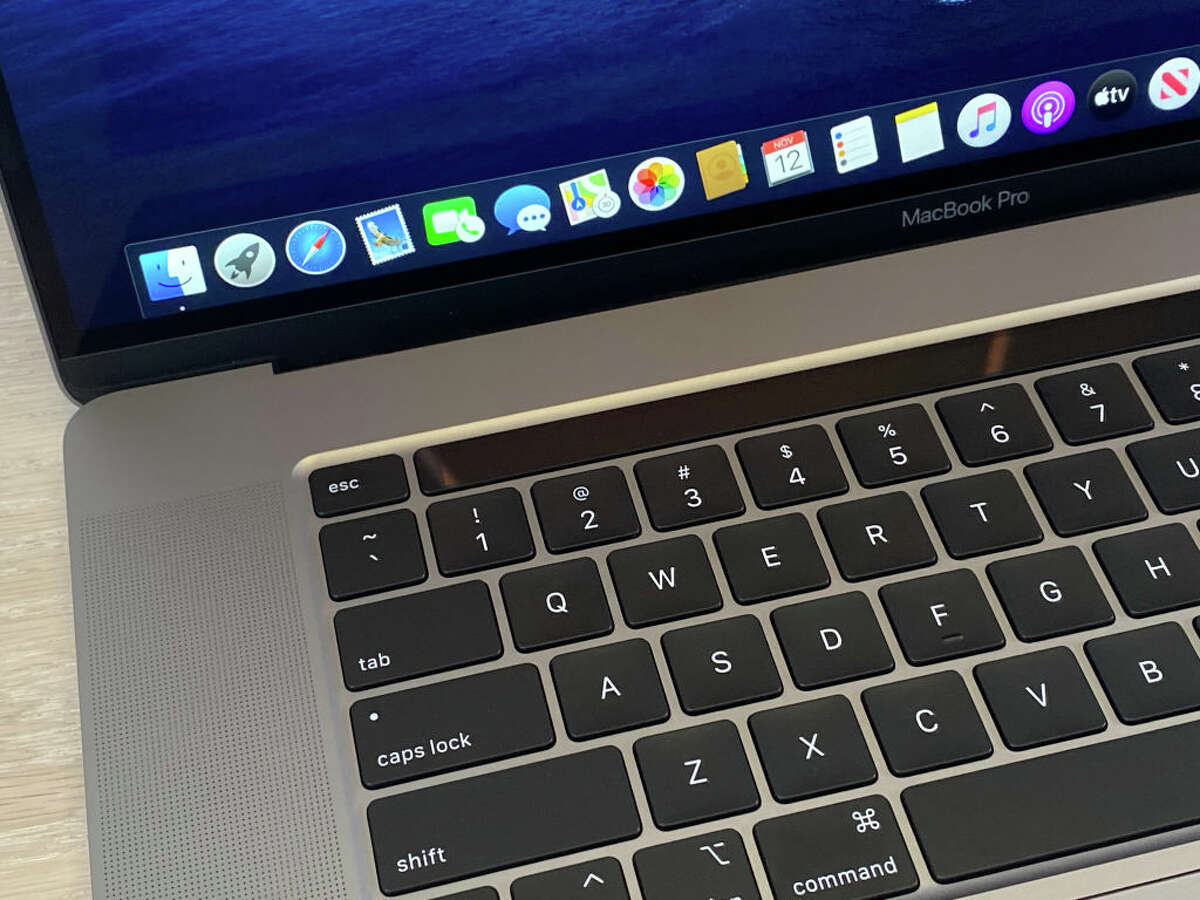 12 November 2019, US, New York: The new MacBook Pro, recorded at an Apple presentation in New York, features a redesigned keyboard, a sophisticated sound system, and a 16-inch display. Photo: Christoph Dernbach/dpa (Photo by Christoph Dernbach/picture alliance via Getty Images)