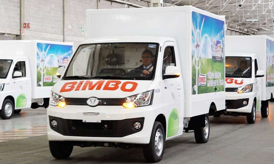 "Mexican bread maker Grupo Bimbo, a company with strong ties to the Houston area, is dabbling its toe in the electric vehicle business with plans for one of its subsidiaries to make more than 4,000 ""green"" delivery trucks that will be used on routes south of the border.  Photo: Grupo Bimbo SA De CV"
