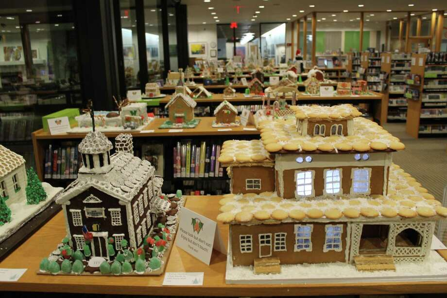 The gingerbread house contest sponsored by Wilton Library and the Wilton Chamber of Commerce is coming up. Drop-off dates are Dec. 1-2. Photo: Janet Crystal / Wilton Library / Wilton Bulletin Contributed