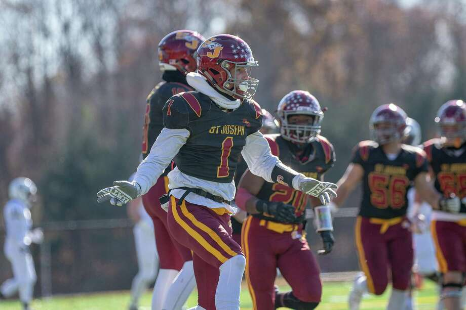 The Cadets of St. Joseph defeated, Staples High, 50-0, at St. Joseph high, Saturday, November 16, 2019 Photo: David G Whitham / For Hearst Connecticut Media / DGWPhotography