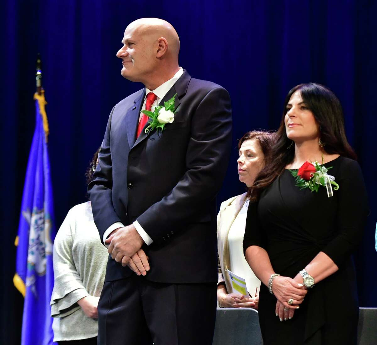 East Haven, Connecticut - Saturday, November 16, 2019: Inaugural Ceremony of East Haven Mayor Joseph A. Carfora that also included the Town Clerk, the Town Council, the Board of Education and the Board of Finance. Saturday at East Haven High School.