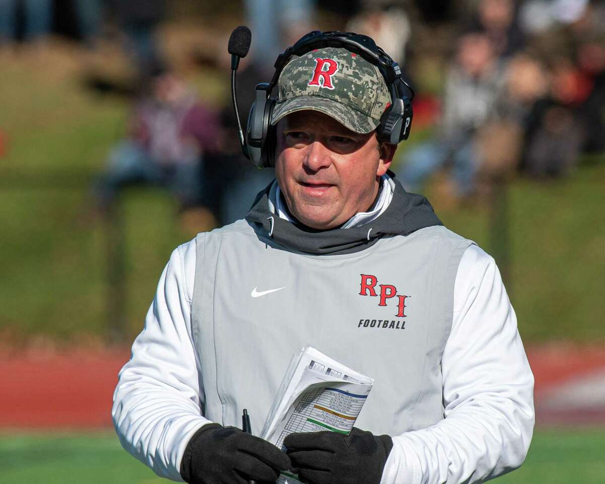 RPI head football coach Ralph Isernia during the annual Dutchmen Shoes football game against Union College at Union College on Saturday, Nov. 16, 2019 (Jim Franco/Special to the Times Union.)