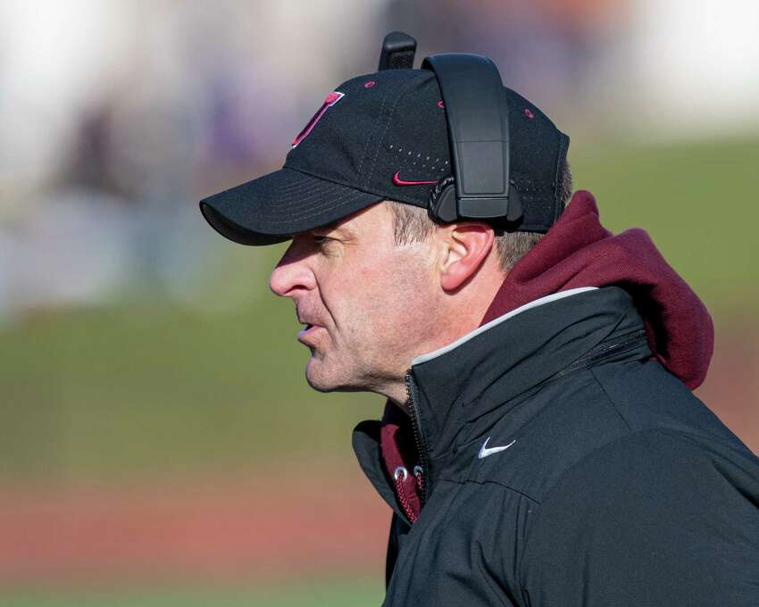 Union College head football coach Jeff Behrman during the annual Dutchmen Shoes football game against RPI at Union College on Saturday, Nov. 16, 2019 (Jim Franco/Special to the Times Union.)