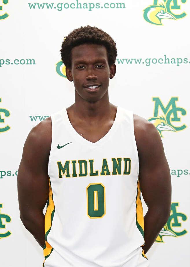 Midland College men's basketball player Derrick Ogechi. Photo: Midland College Athletics