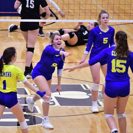 Clemens Kayla Teeler is one of two juniors who switched from outside hitter to making a difference as a middle blocker this year.