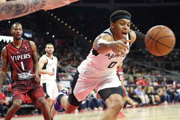 The Spurs called up Keldon Johnson from their developmental squad to take the place of Dejounte Murray, who sat out Saturday.