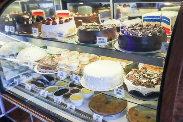 The cake case at the Stamford Diner.