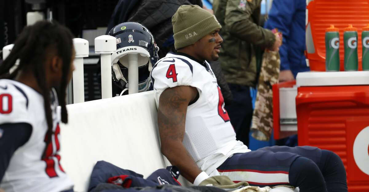 A long Sunday in Baltimore ended with Deshaun Watson being pulled before the end of the Texans' loss to the Ravens.