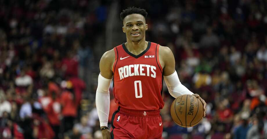 PHOTOS: Rockets game-by-game Houston Rockets' Russell Westbrook (0) brings the ball up the court against the Golden State Warriors during the second half of an NBA basketball game Wednesday, Nov. 6, 2019, in Houston. The Rockets won 129-112.(AP Photo/David J. Phillip) Browse through the photos to see how the Rockets have fared in each game this season. Photo: David J. Phillip/Associated Press