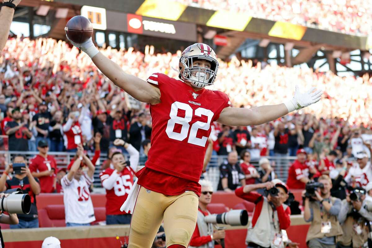 Niners tight end Ross Dwelley had career-highs in starts (nine), snaps (502), catches (19) and yards (245), but also was called for several costly penalties.