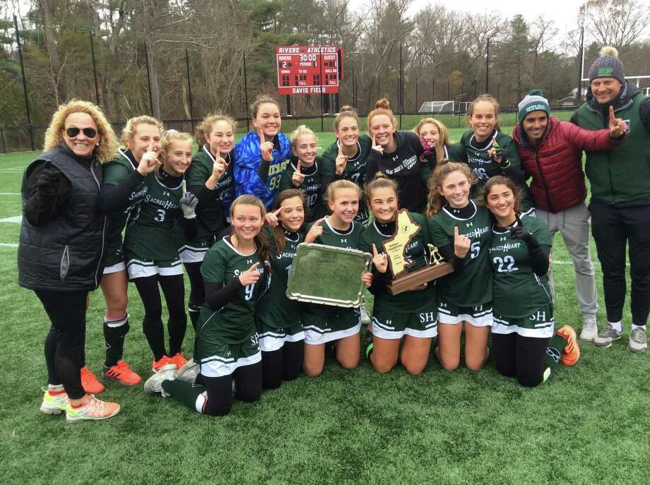 Sacred Heart Greenwich won the NEPSAC Class A field hockey tournament title with a 2-1 win over Tabor Academy at the Rivers School on Sunday, November 17, 2019, in Weston, Mass. Photo: David Fierro /Hearst Connecticut Media