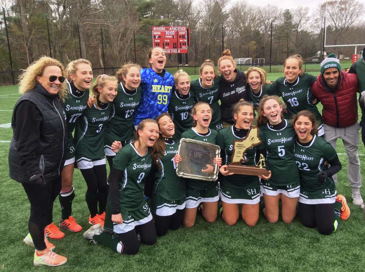 Sacred Heart Greenwich won the NEPSAC Class A field hockey tournament title with a 2-1 win over Tabor Academy at the Rivers School on Sunday, November 17, 2019, in Weston, Mass.