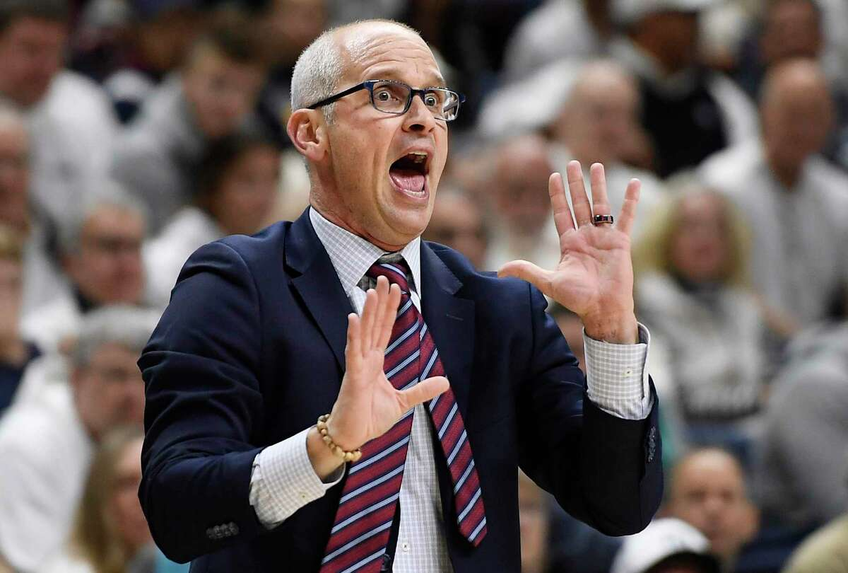 Coach Dan Hurley and UConn will face off against Indiana on Tuesday at Madison Square Garden in New York.