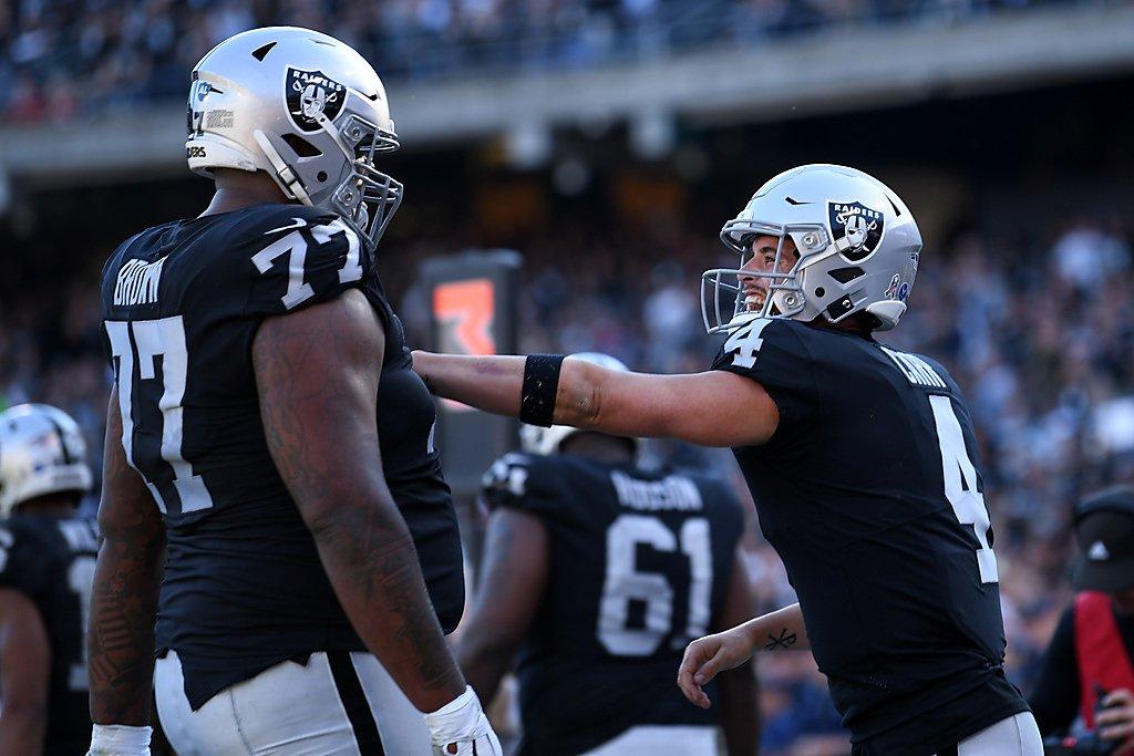 Raiders` Josh Jacobs active, Trent Brown inactive vs....